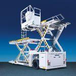 剪叉式升降装卸机 / 用于货物 / 液压 / 电动