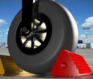 飞机挡轮器