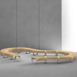 机场长凳 / 金属 / 木质 / 带扶手