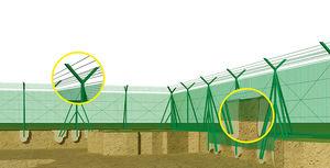 机场围栏 / 安全 / 玻璃纤维