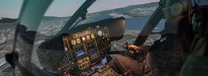 直升机模拟器 / 训练 / 驾驶舱
