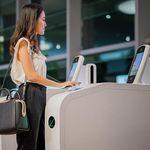 机场自助边检通道 / 带护照读取器 / 带指纹读取器 / 带有面部识别