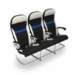 机舱座椅 / 用于经济舱 / 乘客 / 带扶手