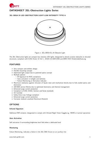 2EL-Obstruction Lights Series