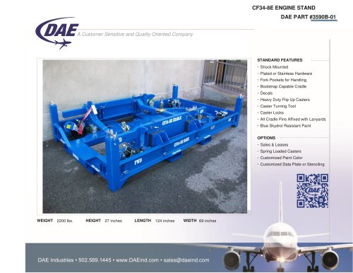 CF34-8E ENGINE STAND