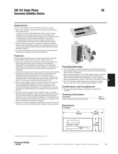 Enclosure Accessories - Corrosion Inhibitor Device