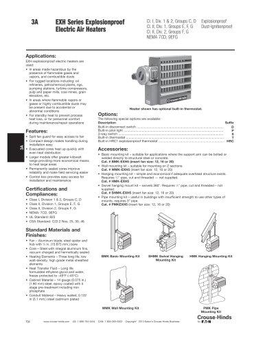 EXH Series Explosionproof Electric Heater