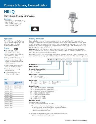 HRLQ High Intensity Runway Light/Quartz