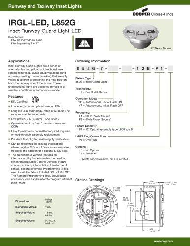 IRGL-LED, L852G Inset Runway Guard Light-LED