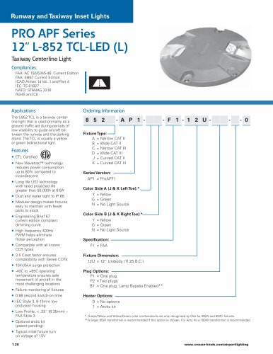 """PRO APF Series  12"""" L-852 TCL-LED (L)"""