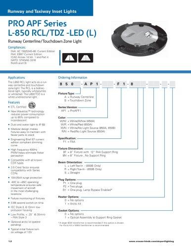 PRO APF Series   L-850 RCL/TDZ -LED (L)