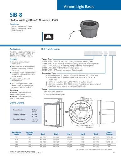 Shallow Inset Light Base - 8