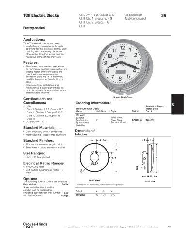 TCH Electric Clocks