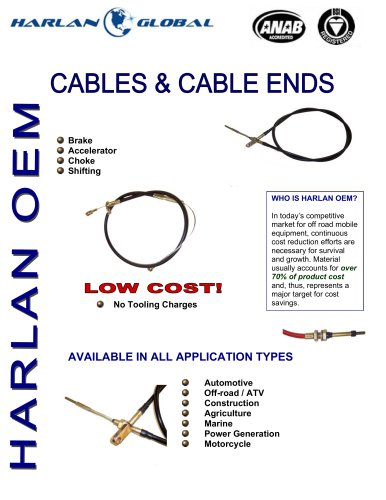 Cables & Cable Ends