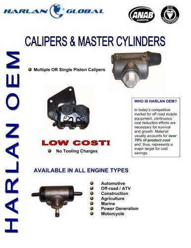 CALIPERS AND MSTR CYLINDERS