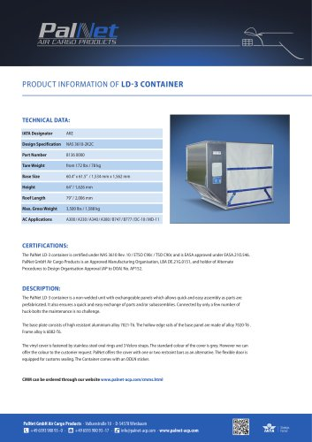 LD-3 Light Weight Container