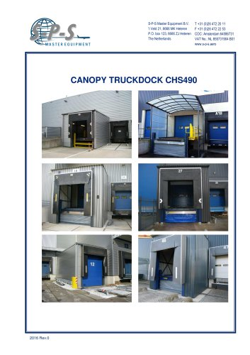 CANOPY TRUCKDOCK CHS490