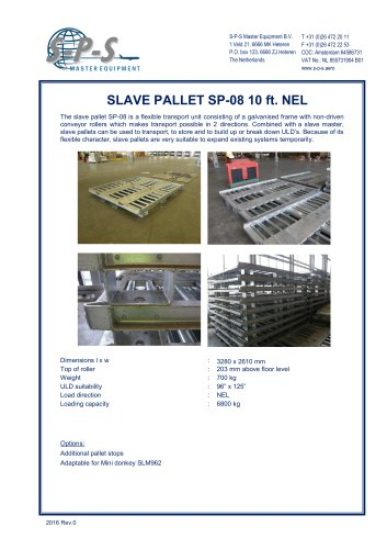 SLAVE PALLET SP-08 10 FT. NEL