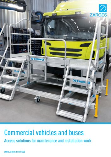 Access solutions for maintenance of commercial vehicles and buses