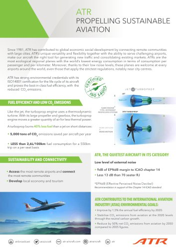 ATR: The sustainable solution