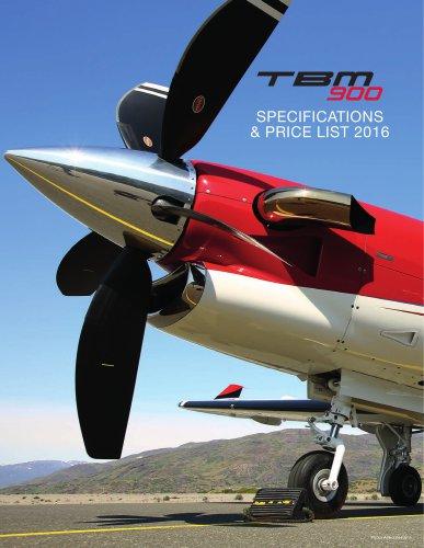 2016_TBM-900_SpecsPriceList