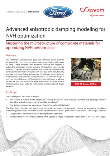Advanced anisotropic damping modeling for NVH optimization