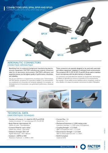 CONNECTORS SP115, SP 116, SP119 AND SP120