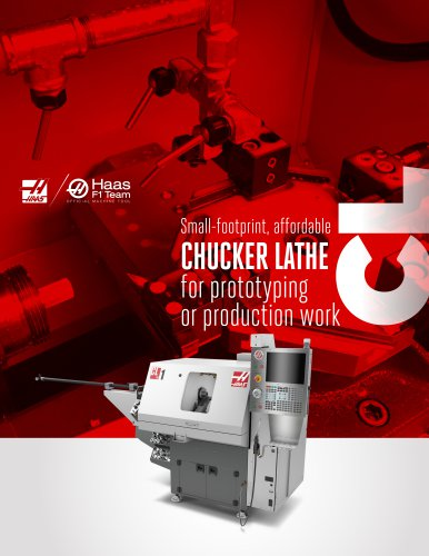 Small-footprint, affordable CHUCKER LATHE for prototyping or production work CL