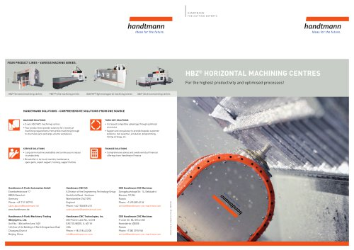 HBZ product line brochure