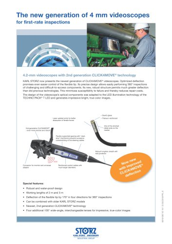 The new generation of 4 mm videoscopes