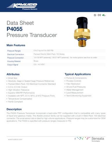 P4055 Pressure Transducer