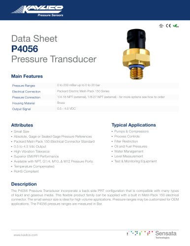 P4056 Pressure Transducer