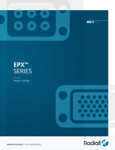 EPX™ SERIES Product Catalog