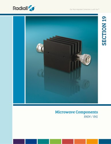 Microwave Components SECTION 19 R404 / R41