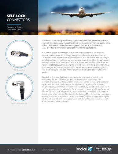 SELF-LOCK CONNECTORS