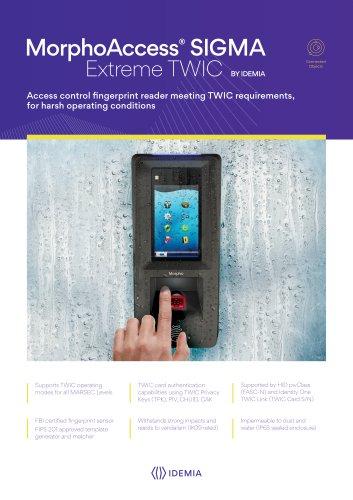 MorphoAccess® Sigma Extreme TWIC