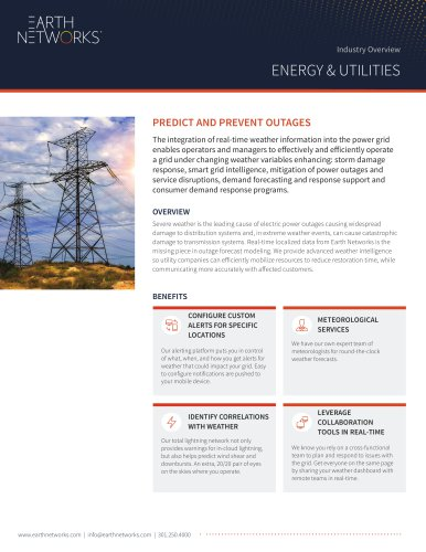 PREDICT AND PREVENT OUTAGES