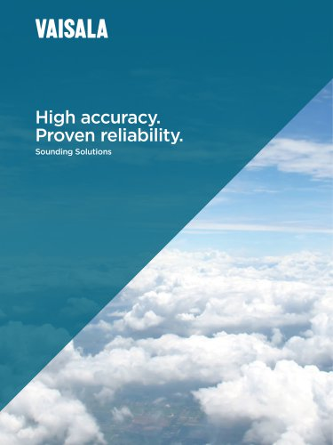 High accuracy. Proven reliability. Sounding Solutions