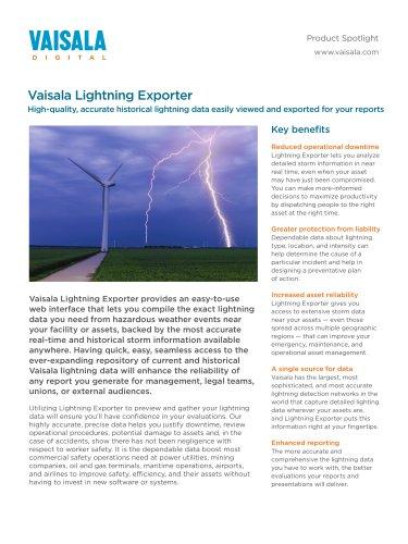 Vaisala Lightning Exporter