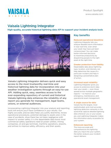 Vaisala Lightning Integrator