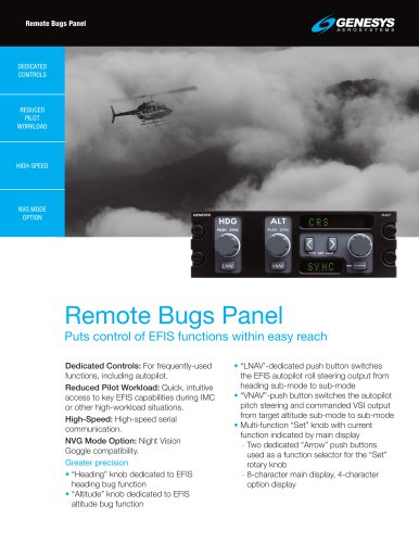 Remote Bugs Panel