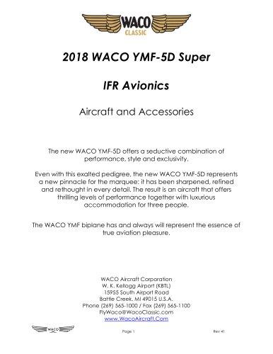 2018 WACO YMF-5D Super IFR Avionics