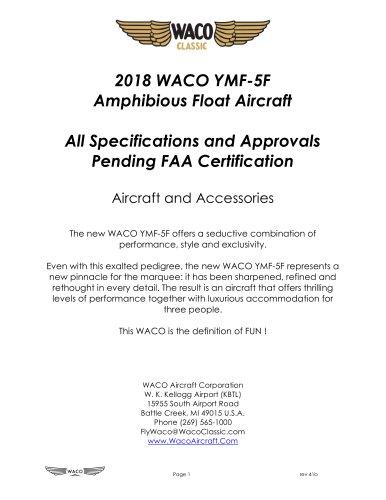 2018 WACO YMF-5F Amphibious Float Aircraft
