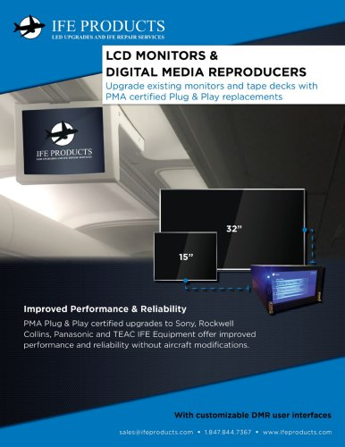 LCD MONITORS 1 DIGITAL MEDIA REPRODUCERS
