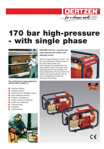 170 bar high-pressure - with single phase