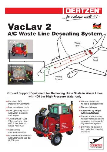 A/c waste line descaling system
