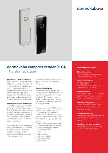 dormakaba compact reader 91 04
