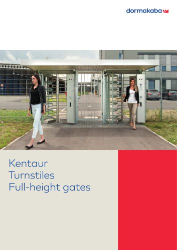 Kentaur Turnstiles Full-height gates
