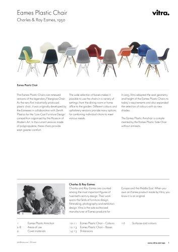 Eames Plastic Chair  Charles & Ray Eames , 1950