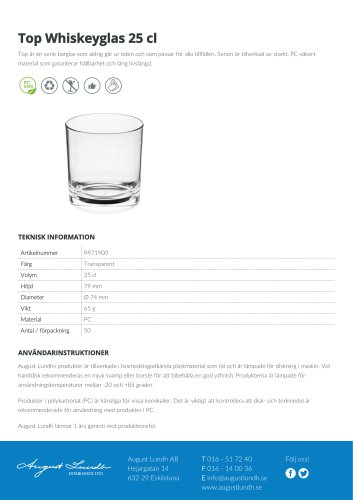 Top Whiskey glass 25 cl